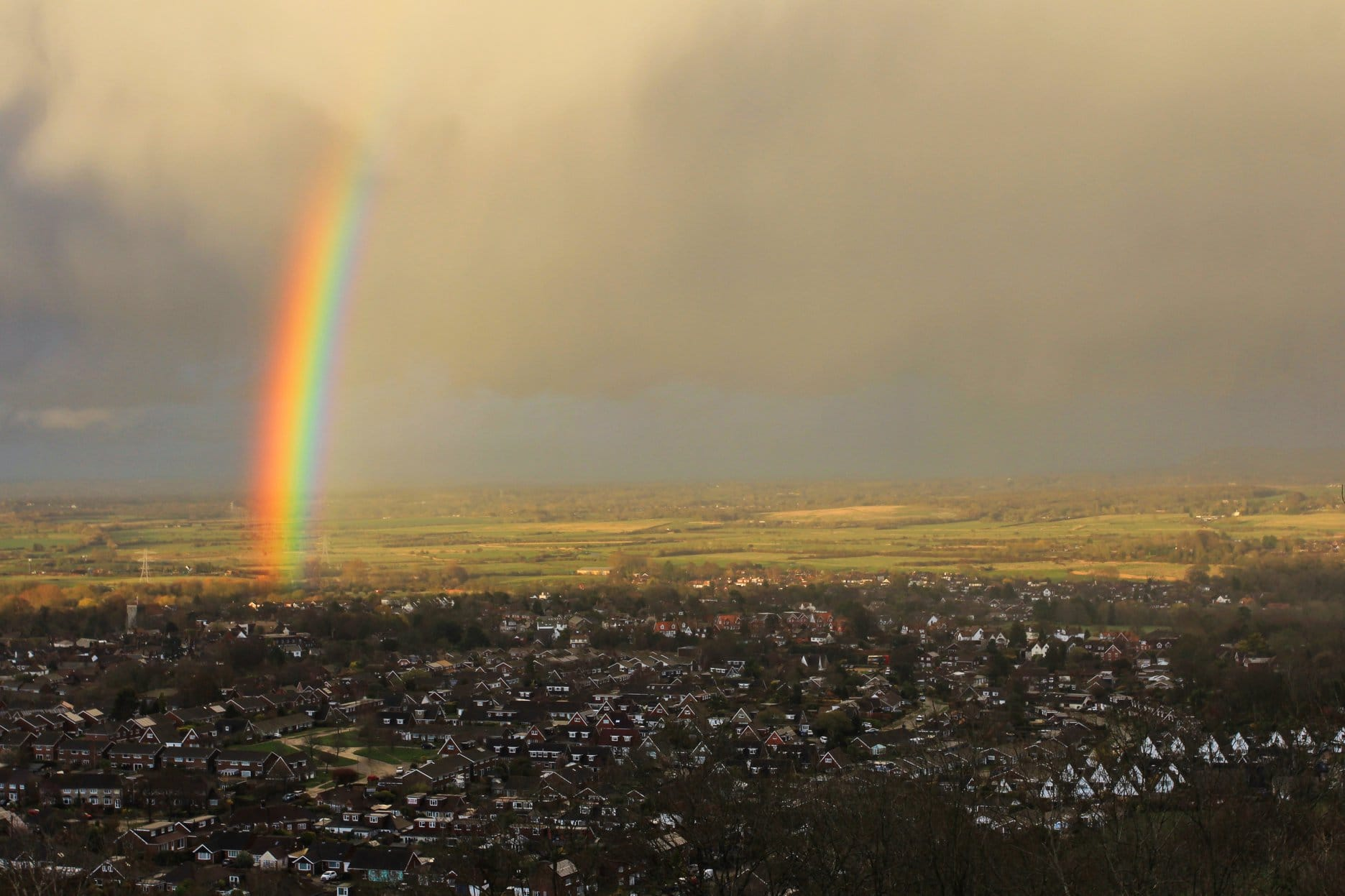 Rainbow over Steyning
