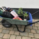 Wheel barrow full on give your stuff away day