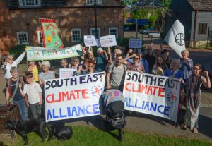South East Climate Alliance protesting in Horsham
