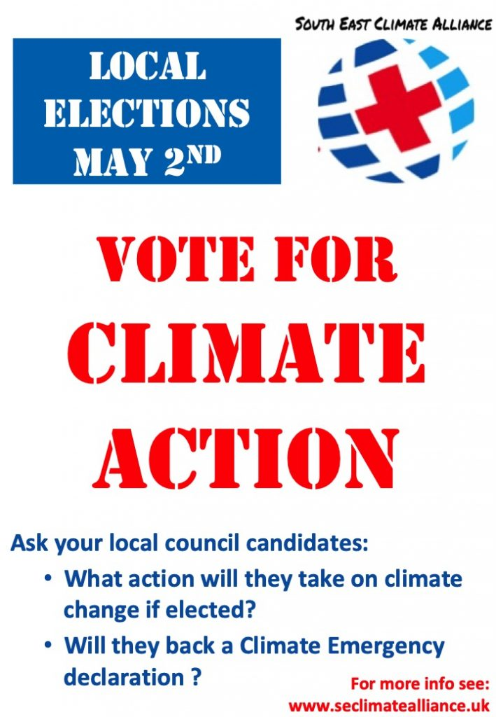 Vote for climate action poster